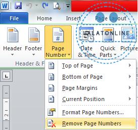 Mengatur letak nomor halaman yang berbeda posisi di word