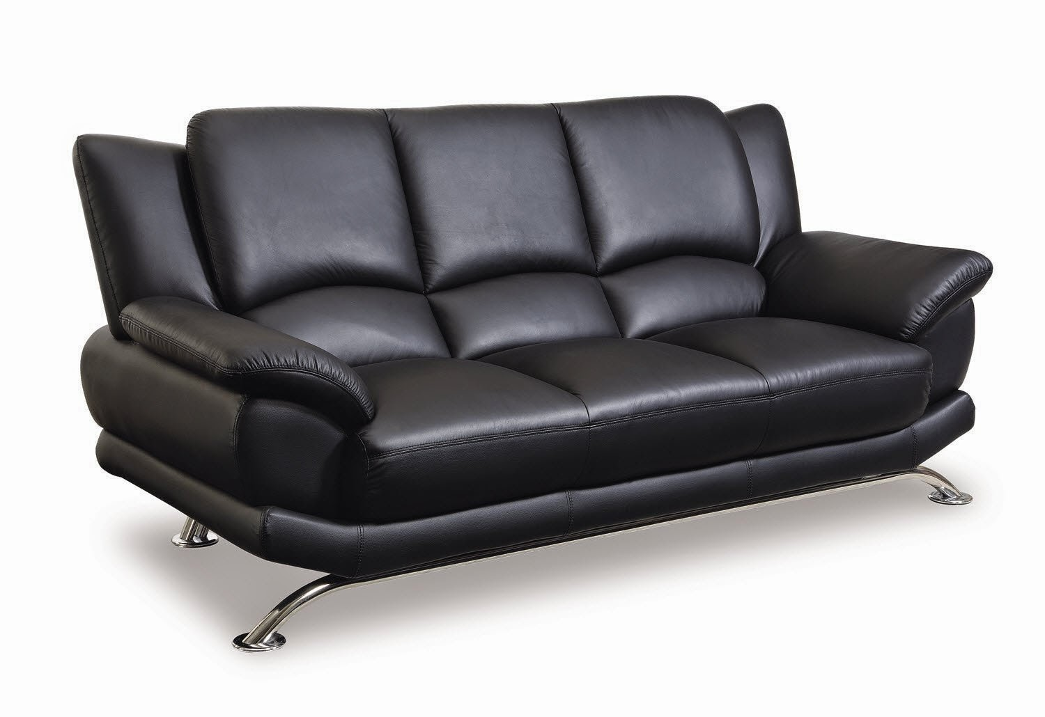 black leather sofa - global leather matching sofas