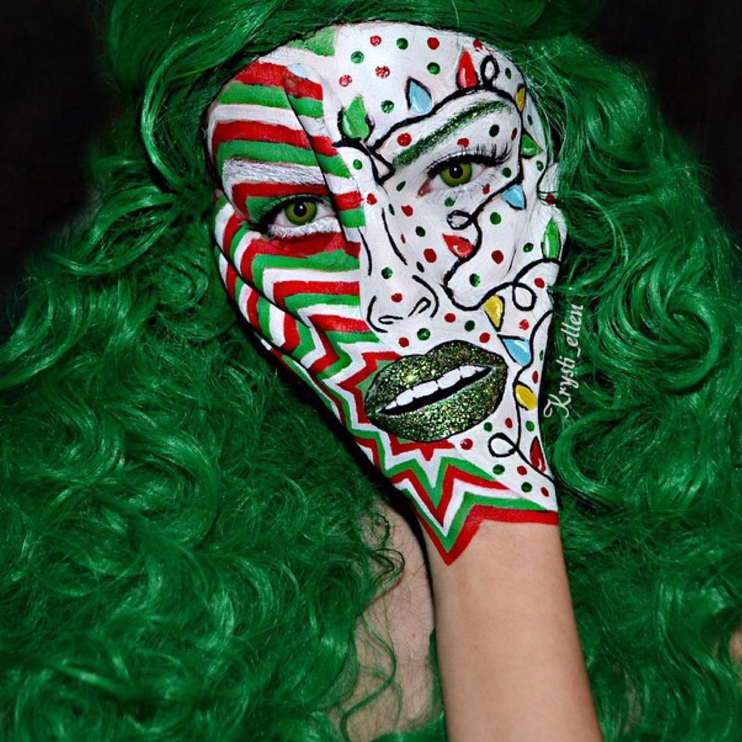 04-Christmas-Special-Krysti-Ellen-Body-Painting-Face-plus-a-Hand-www-designstack-co