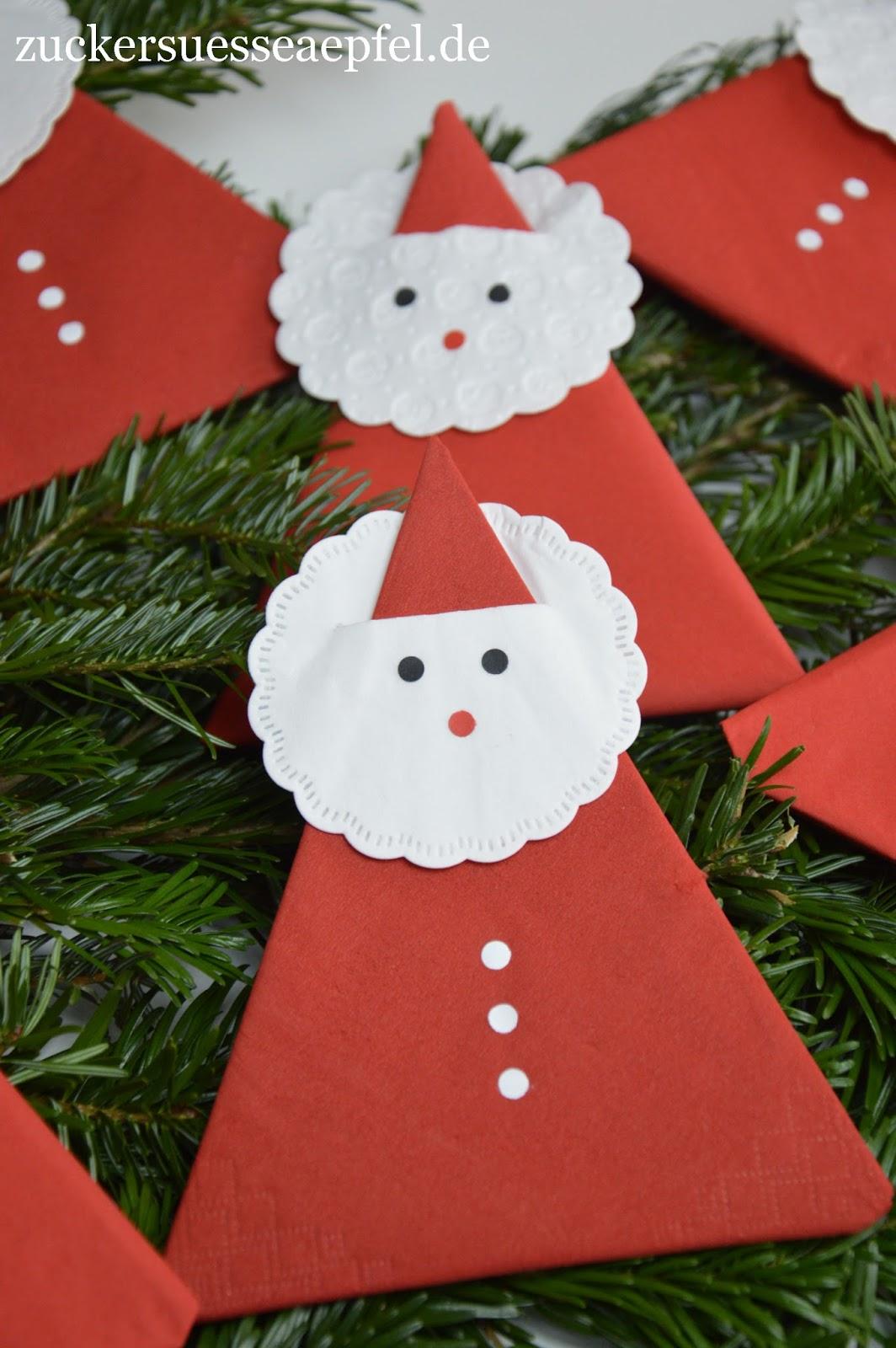 eine anleitung f r s e servietten weihnachtsm nner als. Black Bedroom Furniture Sets. Home Design Ideas
