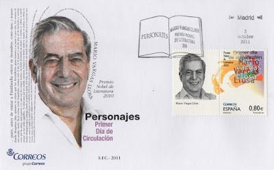 Sobre PDC del sello del Premio Nobel 2010, Mario Vargas Llosa