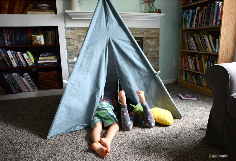 fun reading tee pee tent