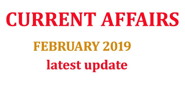 Current Affairs 2019, daily current affairs 2019