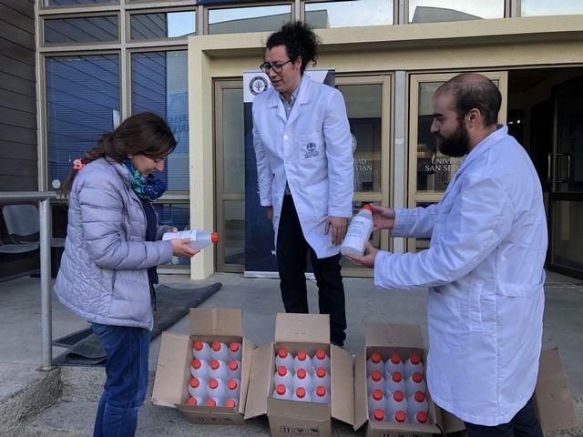 USS produce solución desinfectante para el Departamento de Salud Municipal de Puerto Montt