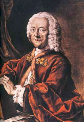 Georg Philipp Telemann (1681–1767), hand-colored aquatint by Valentin Daniel Preisler, after a lost painting by Louis Michael Schneider, 1750