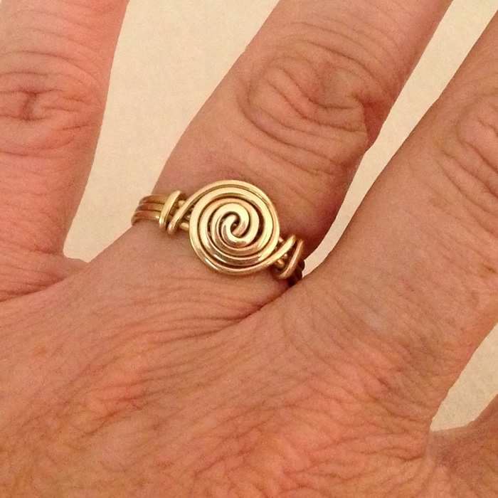 Spiral Swirl Ring by Lisa Yang Jewelry