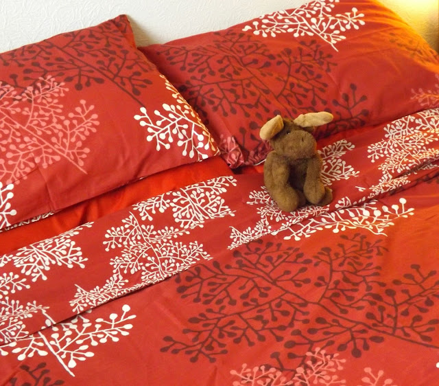Red fern duvet cover