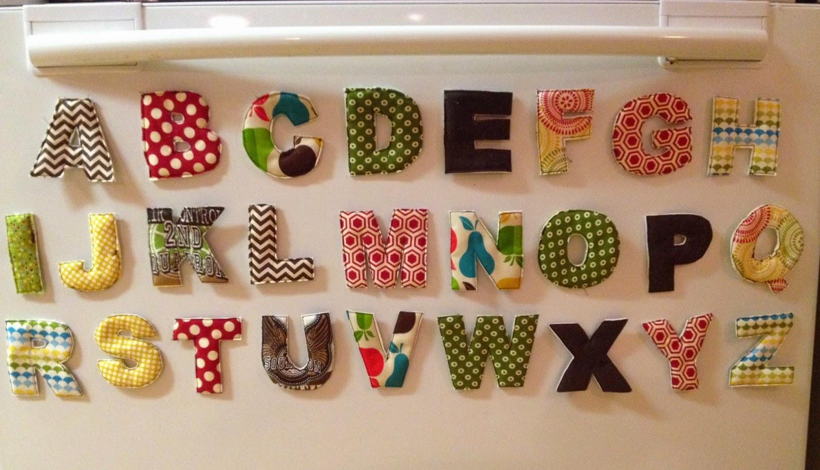 The Everyday Jayne: DIY Alphabet Fridge Magnets & Updated ...