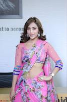 Angela Krislinzki Rogue Movie Fame Telugu Actress in Saree Backless Choli 074.JPG
