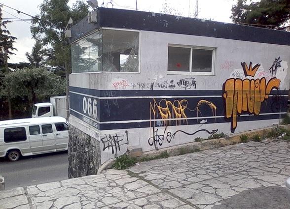 Seguridad en Toluca, graffiti