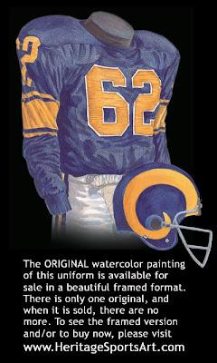 Los Angeles Rams 1957 uniform - St. Louis Rams 1957 uniform