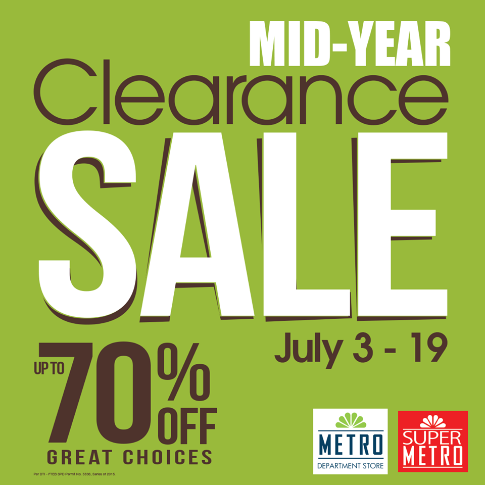 Manila Shopper Metro Stores Clearance Sale July 2015