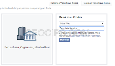 Cara Membuat Fanspage Facebook Langkah 2