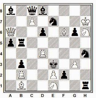 Problema de mate en 2 compuesto por J. García Llamas (2º Premio, Problemas SEPA, 1950)