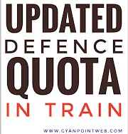 Updated Defence Quota in train - indian railways