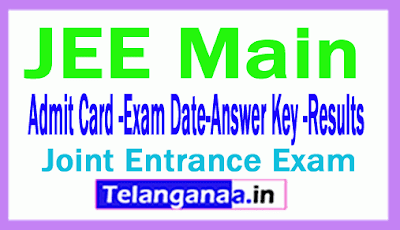 JEE Main 2019 Application Form Exam Dates Eligibility Hall Tickets Results