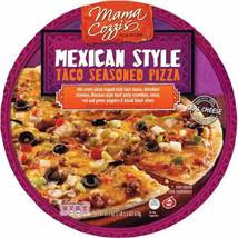 A stock image of Mama Cozzi's Mexican Style Taco Pizza, from Aldi