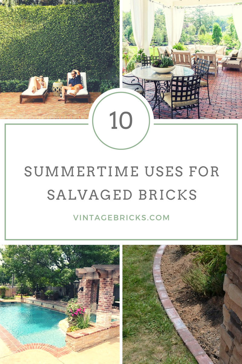 10 Summertime Uses for Reclaimed Bricks