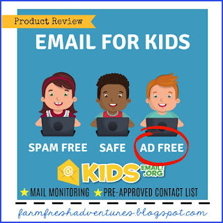 Kids Email~ No Ads, No Spam, Safe! {a review}