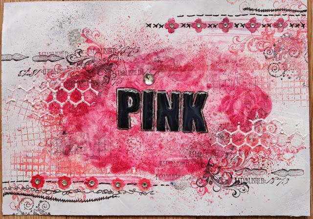 Art journal Pink
