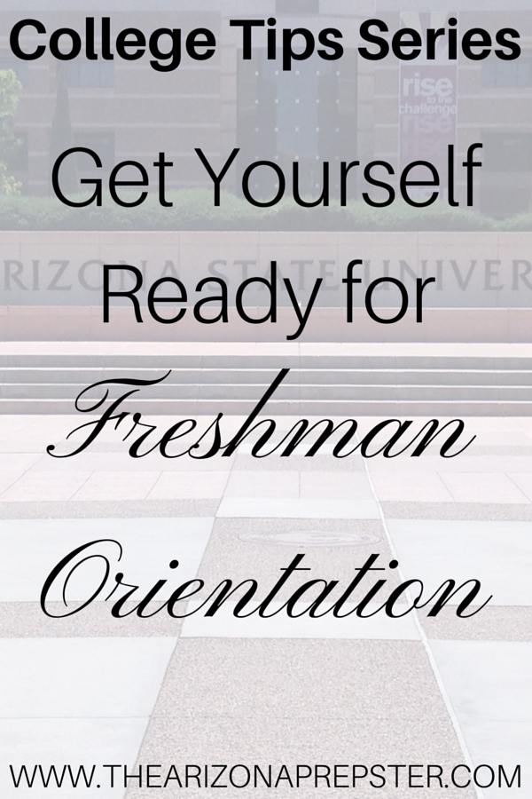 Get Yourself Read for Freshman Orientation