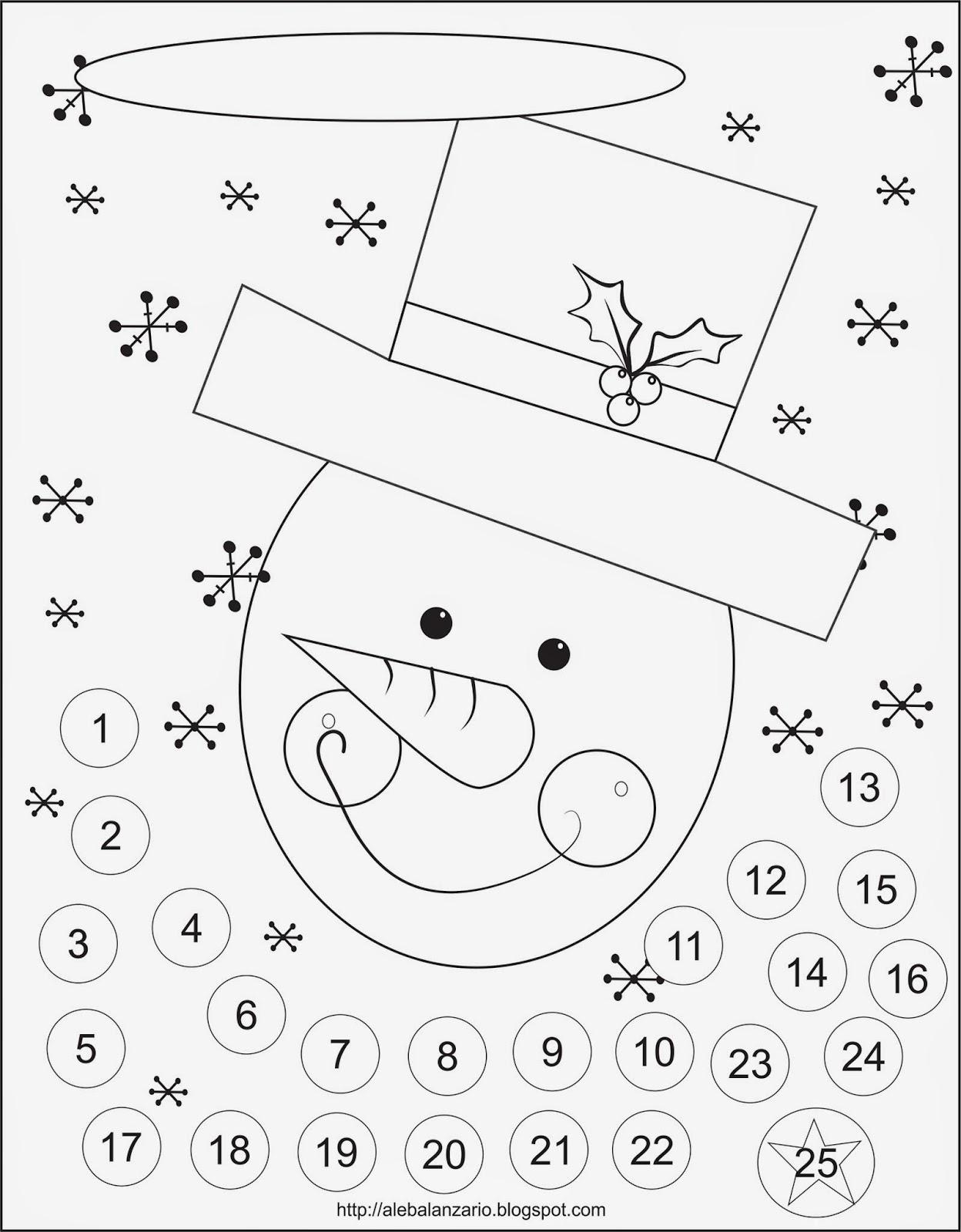 Ale Balanzario Ilustracion: Advent Calendar, a free Printable