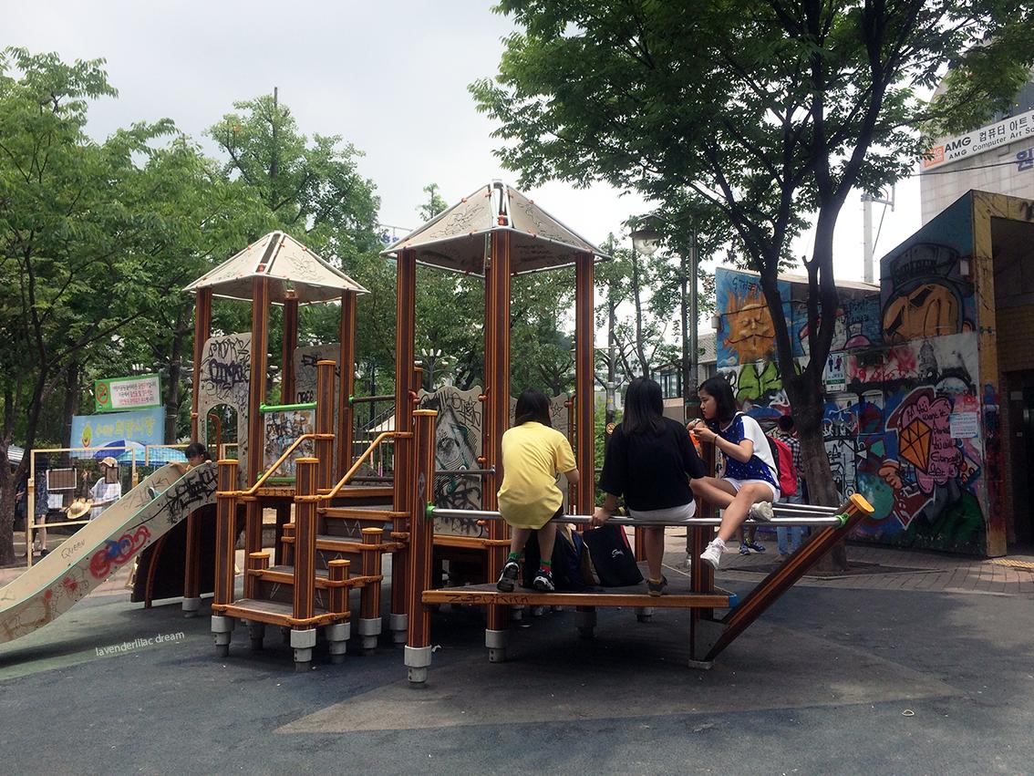 Seoul South Korea Hongdae Playground Park