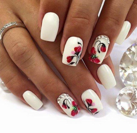 Nails arts: Funny nails flowers and animals
