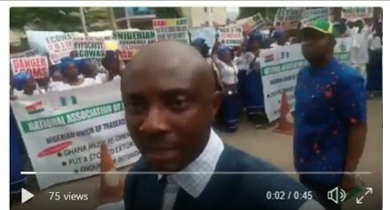 Nigerian Traders Protest Over Ghanaian Authorities' Harassment