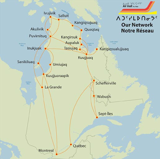 Routes Map Air Inuit Routes Map