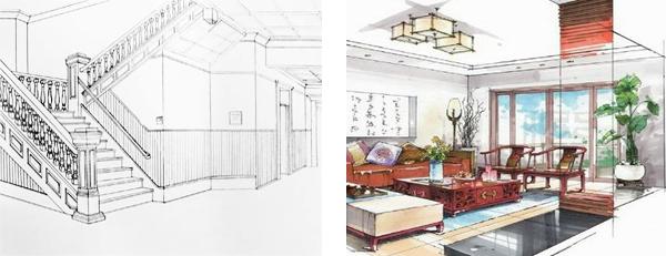 Sket Perspektif Interior dan Eksterior
