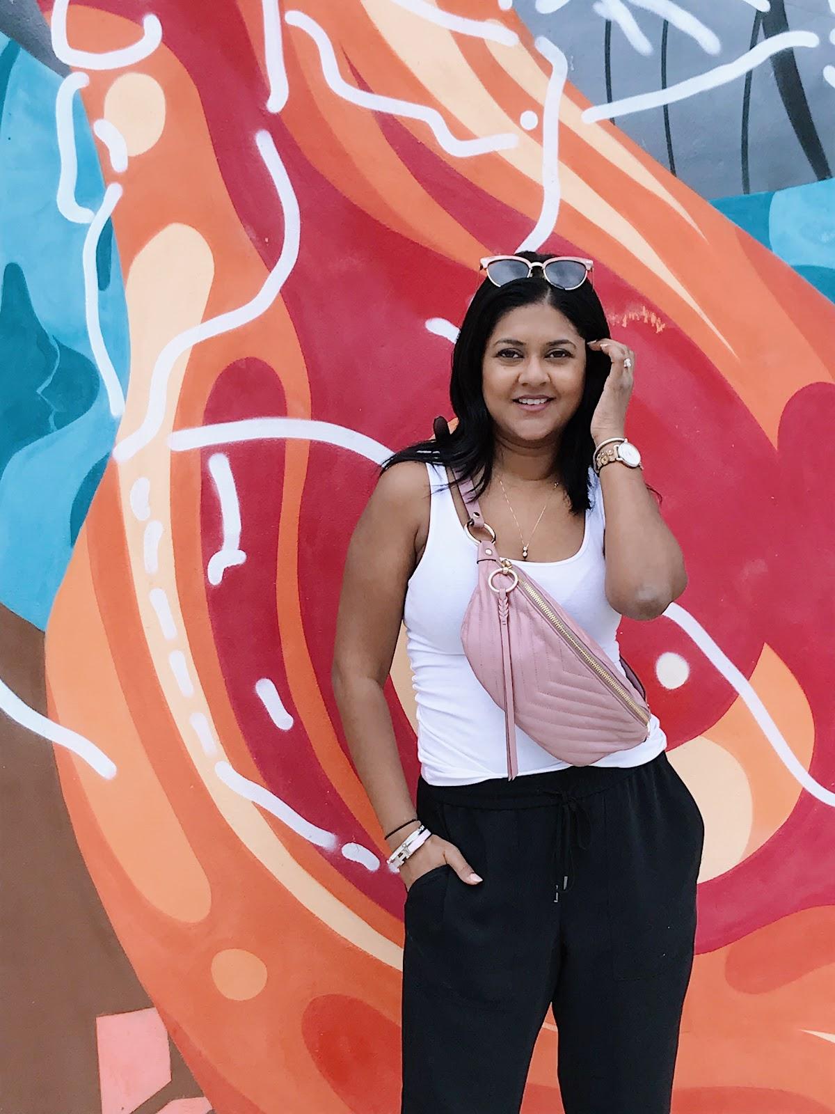 Rebecca Minkoff belt bag pink, pink belt bag