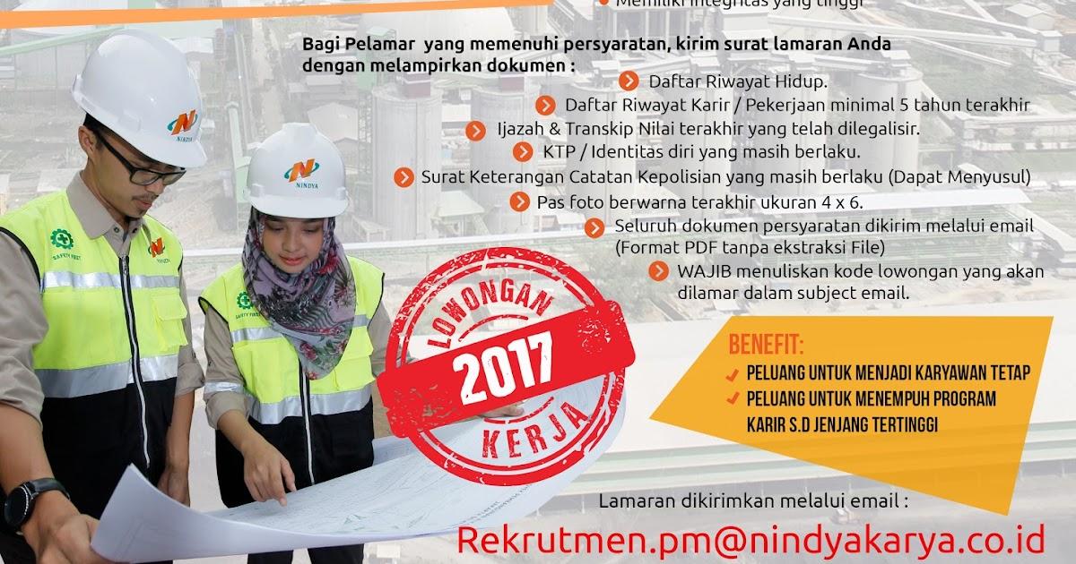 Lowongan Kerja PT Nindya Karya (Persero) Besar-besaran