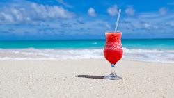 Exotic Cocktail on Caribbean Beach