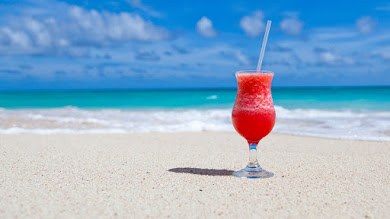 Exotic Cocktail on Caribbean Beach