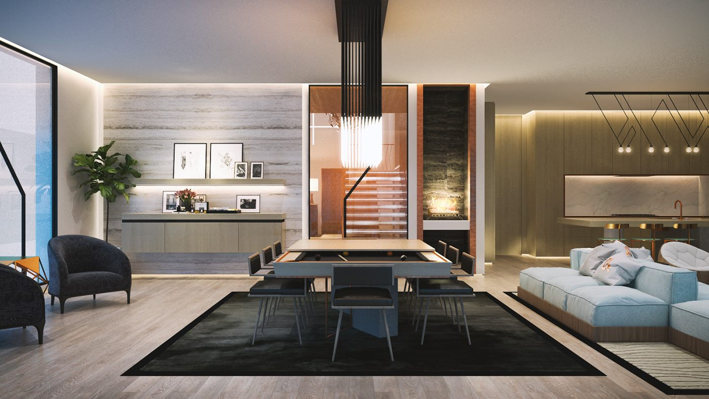 2050 Square Feet, 4 Bedroom Flat Roof House Design Concept
