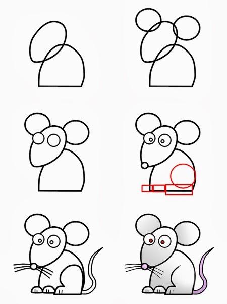 le coin des enfants comment dessiner une souris. Black Bedroom Furniture Sets. Home Design Ideas