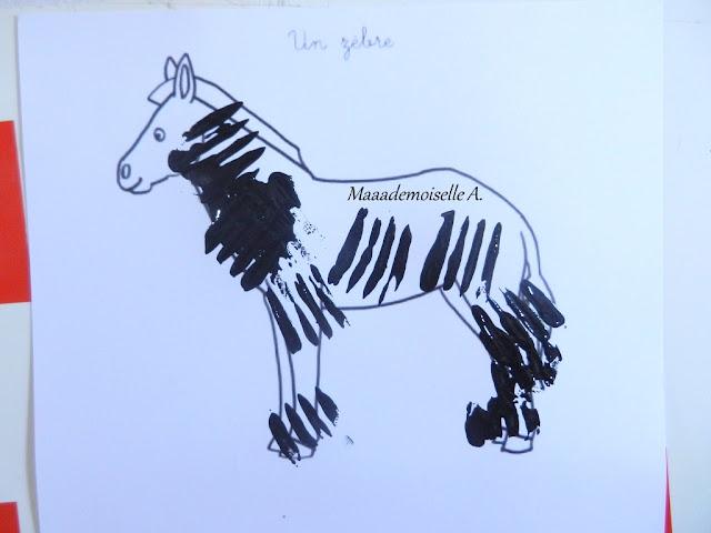 || Activité : Zèbre dans la savane, peinture à la fourchette (L'art est un jeu d'enfant # 6)