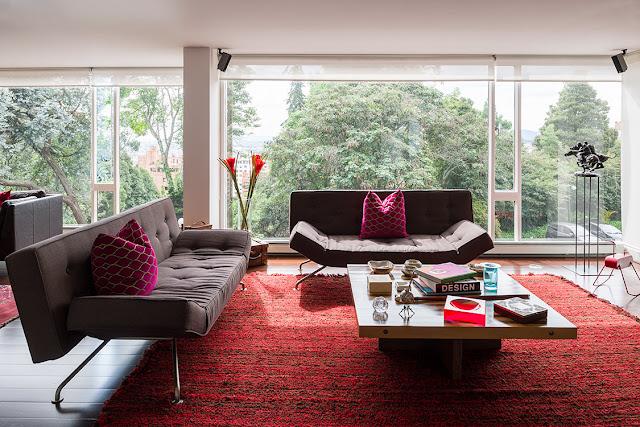 Como decorar salas con alfombras rojas - Decoracion con alfombras ...
