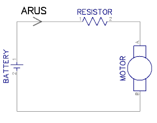 Contoh Beban Motor dengan Hambatan Resistor