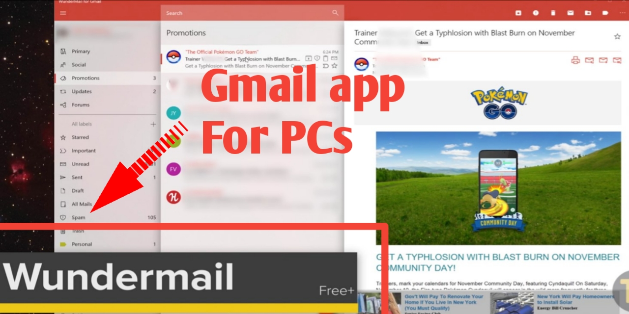 Google mail app for windows 8.1