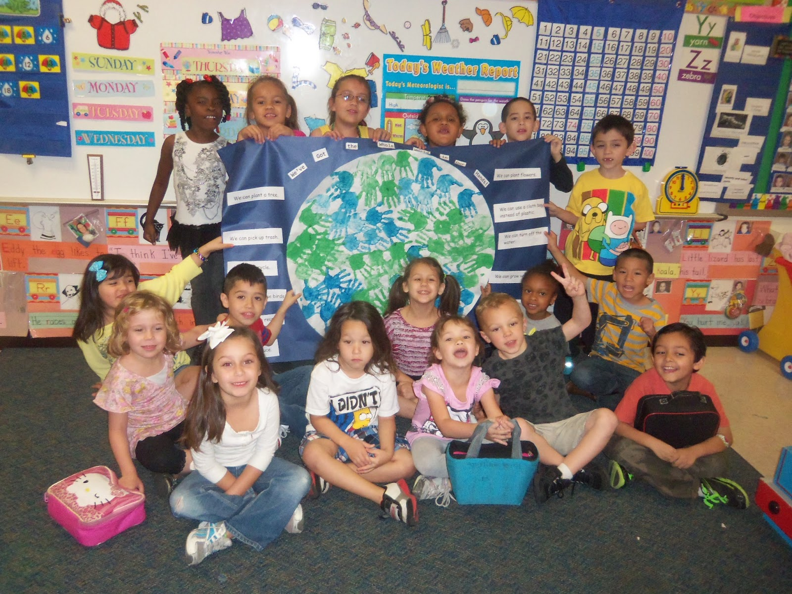Kinder Garden: Mrs. Wood's Kindergarten Class: Earth Day