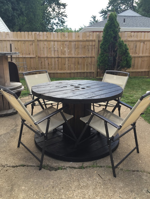 Awe Inspiring The Junk Nest Electrical Wooden Spool Diy Patio Table Home Remodeling Inspirations Propsscottssportslandcom
