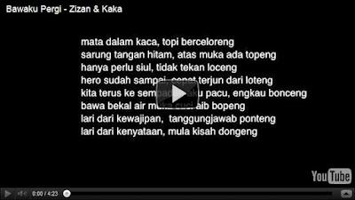 Lirik Lagu Bawaku Pergi  Kaka & Zizan  Viral Cinta