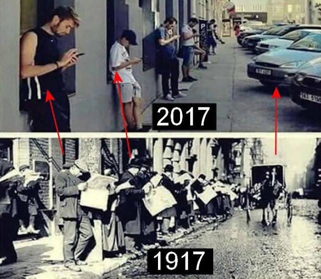 Foto Perbedaan Suasana Tahun 1917 vs 2017 Ini Bikin Kamu Melongo