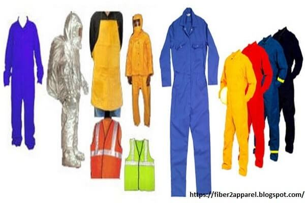 Protective clothing types