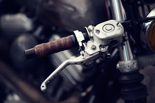 one puch sportster brat by zadig motorcycles front handlebar brake
