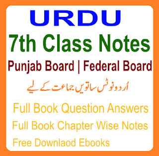 All Subjects Solved Notes Federal Board URDU Chapter Wise