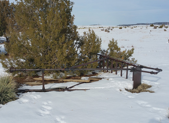 Playground equipment at the abandoned schoolhouse Ruins of Ludlow Colorado Ghost Town