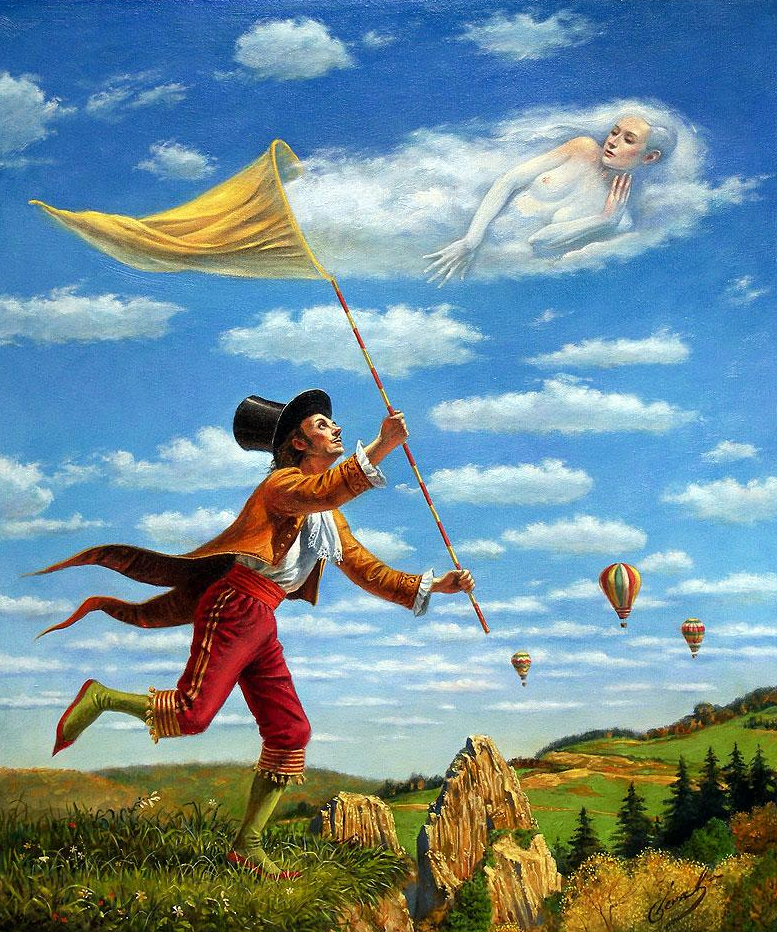 08-Michael-Cheval-Dream-Catcher-Surreal-Absurdist-Paintings-www-designstack-co